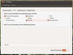 Настройки конфиденциальности в Ubuntu 12.04